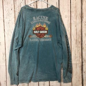 Vintage 2001 Harley-Davidson Racine WI L/S 3XL